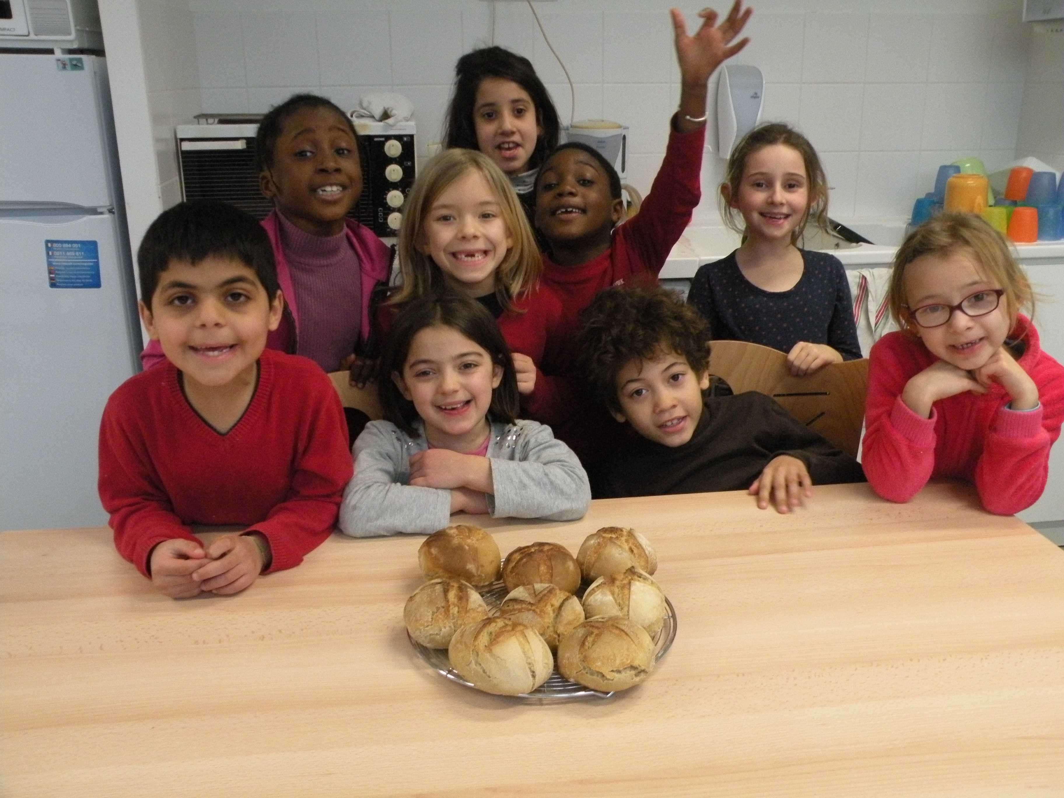 Les petits pains cuits